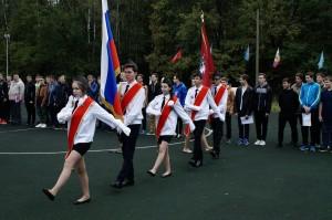 День призывника в районе Ивановское вынос знамени